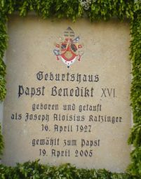 Marktl: Geburtshaus Papst Benedikt XVI