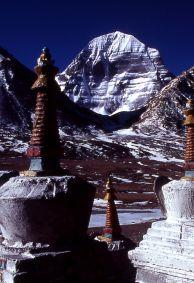 Mount Kailash mit Stupa