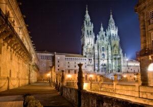 Kathdrale Santiago de Compostela bei Nacht