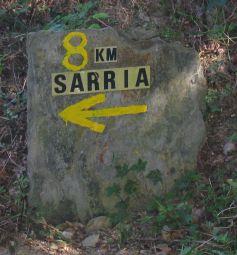 Wegweiser nach Sarria