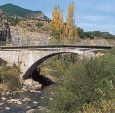 Brücke bei Villanua