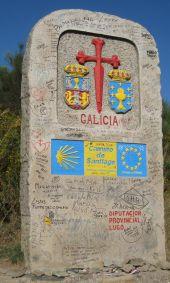 Wegstein Grenze zu Galicien